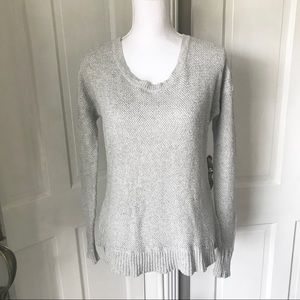 Madewell Chronicle Texture Gray Heather Sweater
